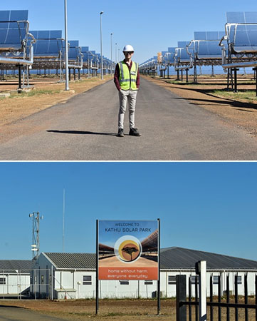Solar power plant South Africa